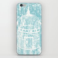 aelwen iPhone & iPod Skins featuring Hang in there.  by Elena O'Neill