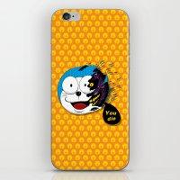 doraemon iPhone & iPod Skins featuring Doraemon dead by pexkung