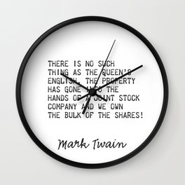 Summer afternoon - summer afternoon; to me those have always been the two most beautiful words in the english language. Wall Clock