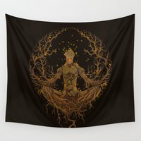 groot Wall Tapestries featuring Groot Mandala by Megmcmuffins
