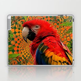 RED JUNGLE MACAW PATTERN ABSTRACT Laptop & iPad Skin