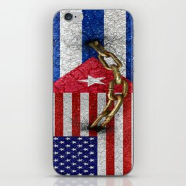 United States and Cuba Flags United iPhone Skin