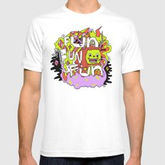 Fun Fun Fun MEDIUM Mens Fitted Tee White