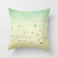 Graceful Flock Throw Pillow