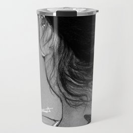 Lauren Jauregui Dragonfly Tattoo Sketch Travel Mug