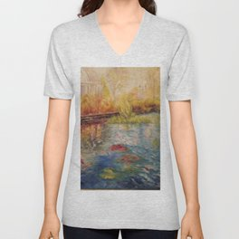 Autumn at Phipps Conservatory by Marianne Fadden Unisex V-Neck