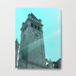 Old Post Office Pavilion, Washington DC, Iteration in Bright Blue Metal Print