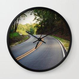 Curvy road Wall Clock