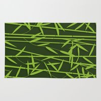 bamboo Area & Throw Rugs featuring BAMBOO by Rceeh