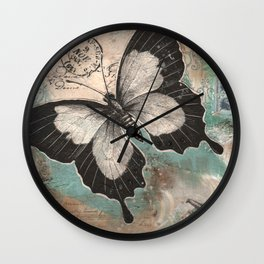 Botanical Collage  Wall Clock