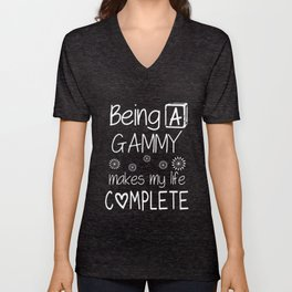 being a grammy makes my life complete daughter t-shirts Unisex V-Neck