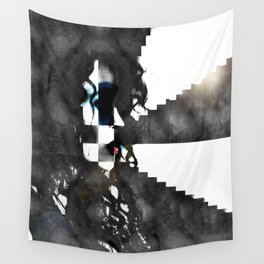 Erika in Checkered Stairwells. Wall Tapestry