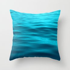 Water : Teal Tranquility Throw Pillow