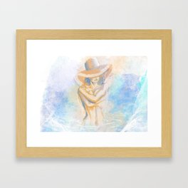 Bathing Framed Art Print