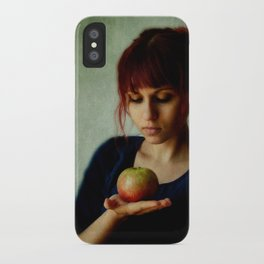the girl with the apple iPhone Case