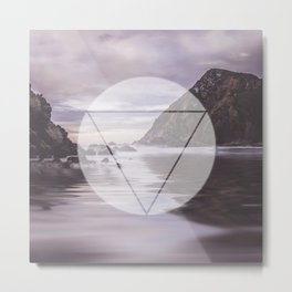 Calm Waters sacred geometry circle triangle Metal Print