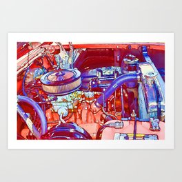 Vehicle engine close up Art Print