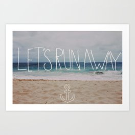 Let's Run Away: Sandy Beach, Hawaii Art Print