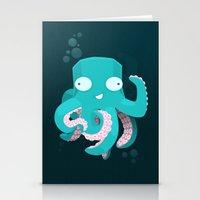kraken Stationery Cards featuring Kraken by Damien Mason