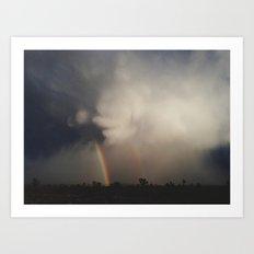 Fist Cloud Rainbows Art Print