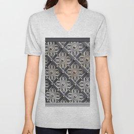 Metallic And Decorative - Grey Monochrome #decor #society6 #buyart Unisex V-Neck