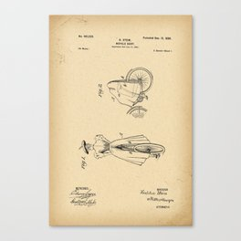 1898 Patent Bicycle skirt Canvas Print