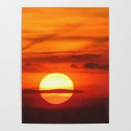 Sunset at Devil's Dyke (UK) Poster