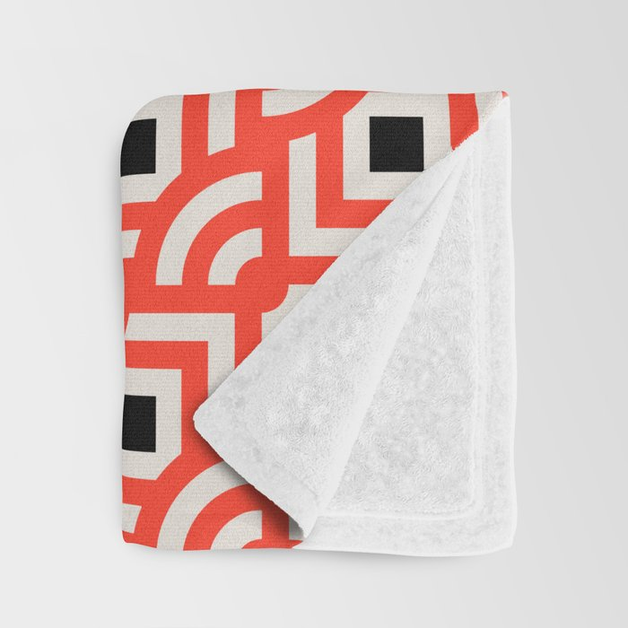 Round Pegs Square Pegs Red-Orange Throw Blanket