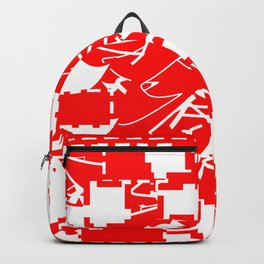 The date between red and white Backpack
