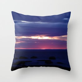 Purple Glow at Sunset Throw Pillow