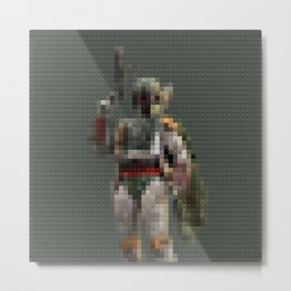 Fett - bounty hunter - Legobricks Metal Print