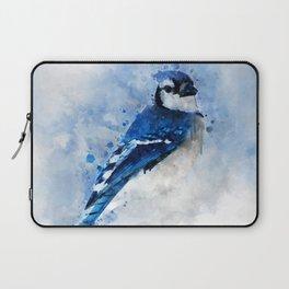 Watercolour blue jay bird Laptop Sleeve