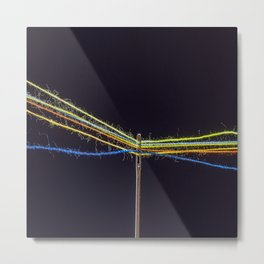 wires in the needle Metal Print