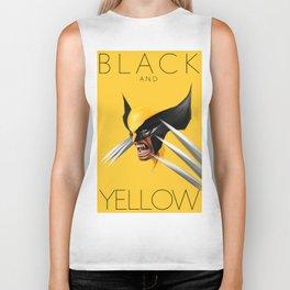 BLACK AND YELLOW Biker Tank