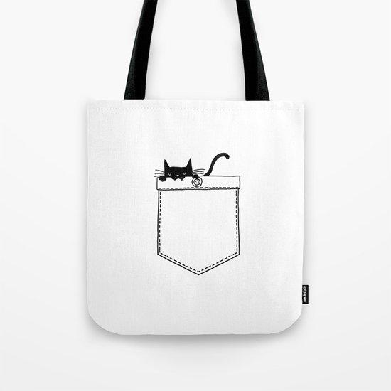 Pocket Cat Tote Bag