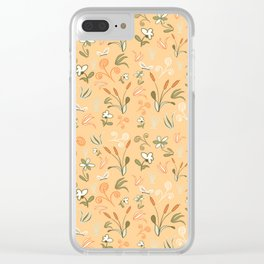 Cattail Chaos Clear iPhone Case
