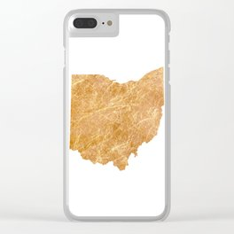 Gold Ohio Clear iPhone Case