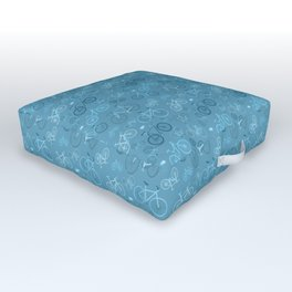 I love bikes in teal Outdoor Floor Cushion