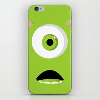 mike wrobel iPhone & iPod Skins featuring Mike Wazowski by Bearded Manatee
