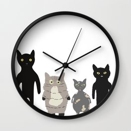 my roommates who meow Wall Clock