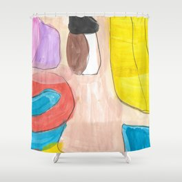 Expectation Watercolor Shower Curtain