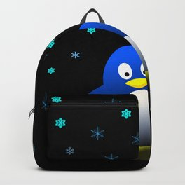 Dancing Penguin in the Dark Backpack
