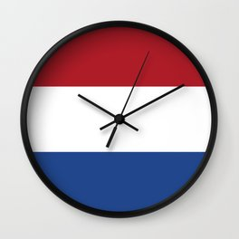 flag of netherlands  Wall Clock