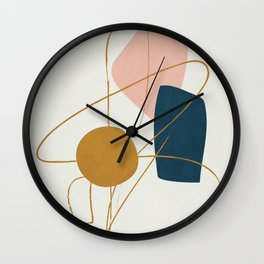 Minimal Abstract Shapes No.46 Wall Clock