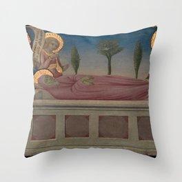 Sano di Pietro - The Burial of Saint Martha Throw Pillow