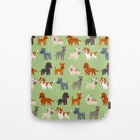 irish Tote Bags featuring IRISH DOGS by Doggie Drawings