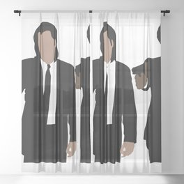 Pulp Fiction Sheer Curtain