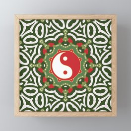 Holiday Festive Balance Yin Yang Framed Mini Art Print