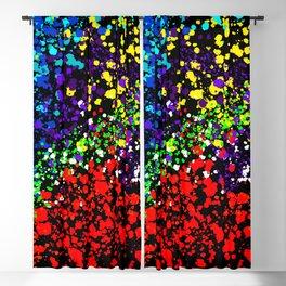 Color Explosion Paint Dots Blackout Curtain