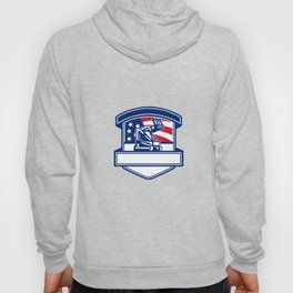 Forestry Cutter USA Flag Badge Hoody